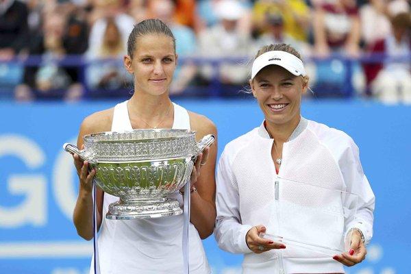 Karolína Plíšková (vľavo) vo finále zdolala Caroline Wozniacku.