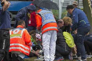 Valverdeho okamžite odniesli do nemocnice.