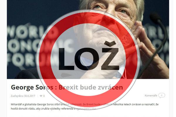 George Soros nemá v pláne zvrátiť brexit. Predpokladá však, že sa to môže stať.
