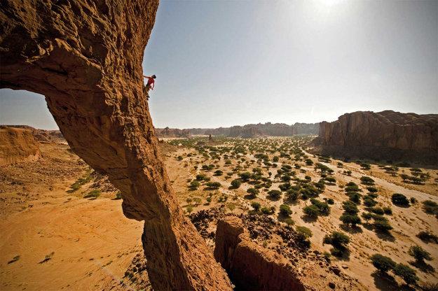 Pôsobivá krajina v Čade.