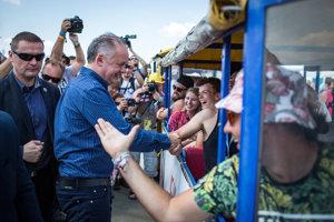 Prezident Andrej Kiska na Pohode.