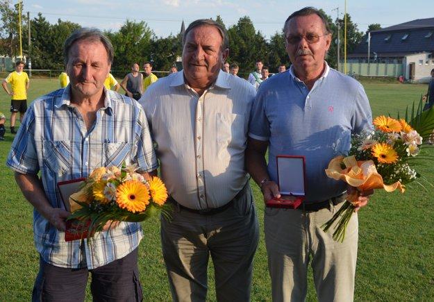 Zľava: Jozef Čimbora, Jaroslav Božik a Jozef Golešényi.