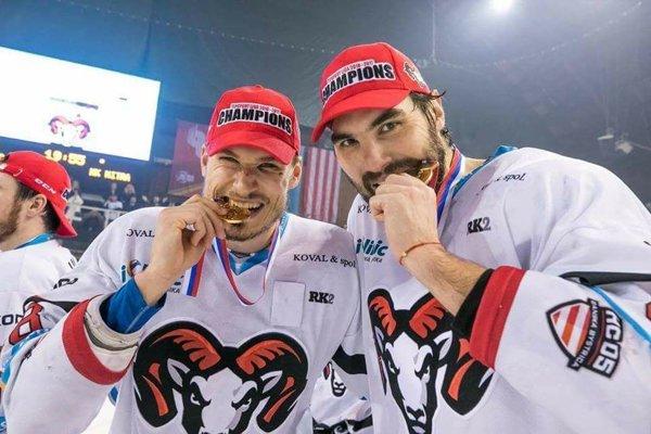 Úspešní rodáci. Dalibor Bortňák (vľavo) aVladimír Mihálik.