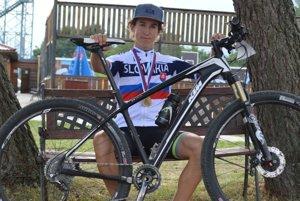 Mladý cyklistický talent z Vlače Tomáš Meriač.