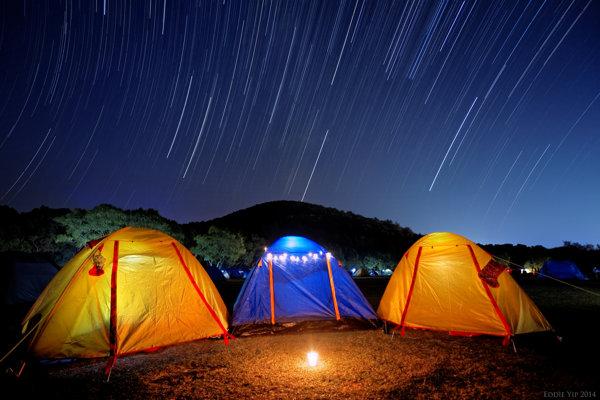 Ilustračné foto. Stopy po meteorickom roji Geminidy.