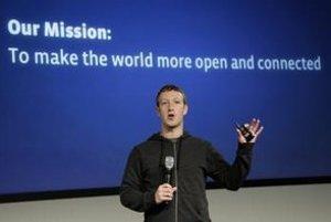 Zakladateľ sociálnej siete Facebook Mark Zuckerberg.