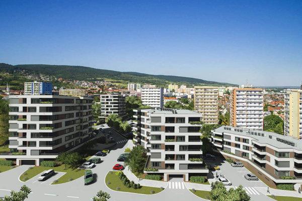 Bytový komplex Zlaté krídlo v Rači obsahuje 138 bytov.