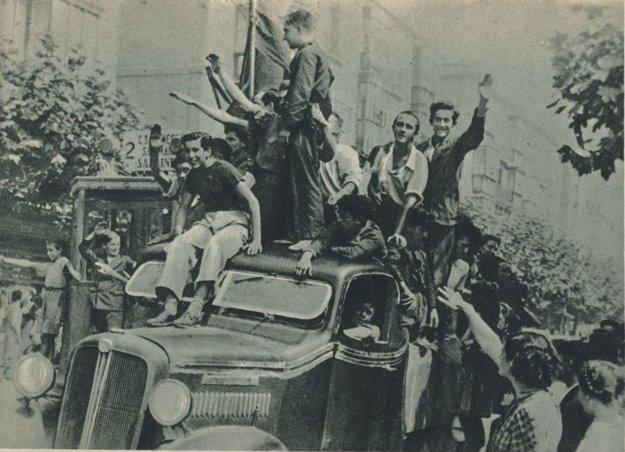 Výjav zo španielskej občianskej vojny, rok 1936.