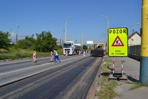 Stavebné práce na Košickej ulici.