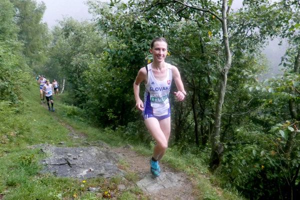 Katarína Lamiová na trati.