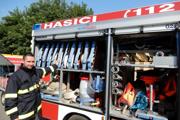 Predseda Dobrovoľného hasičského zboru v v Nižnom Hrušove Peter Marjov.