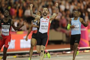 Ramil Gulijev sa raduje z víťazstva.