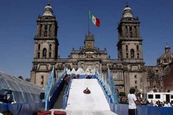 Ľadová kĺzačka v Mexico city.