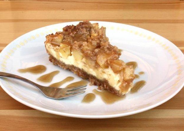 Jablkový cheesecake