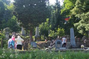 Pohľad na takzvaný Panský cintorín.