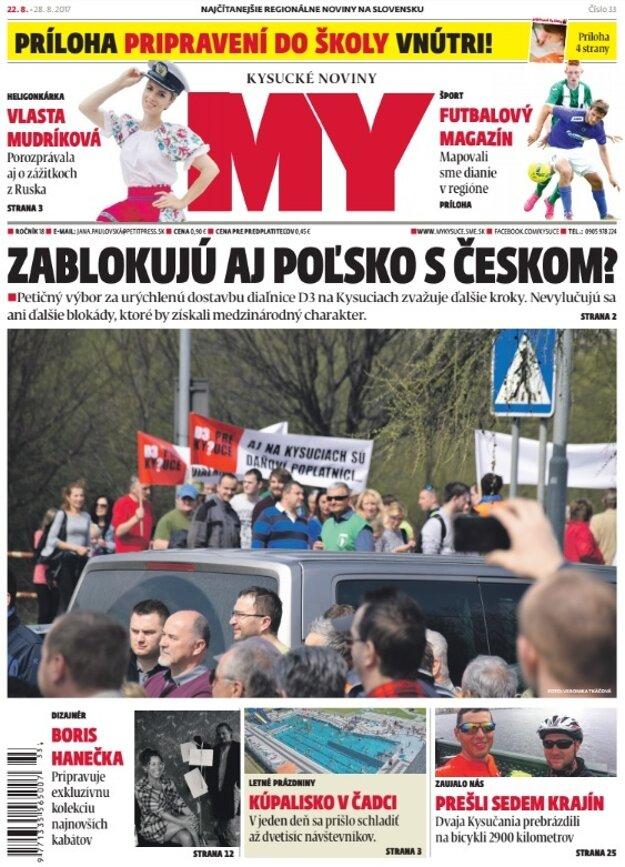 Najnovšie číslo MY Kysuckých novín si kúpite už v utorok 22. augusta.