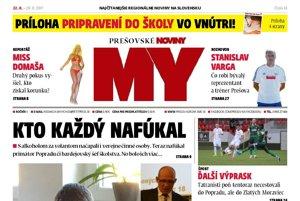 Titulná strana týždenníka MY Prešovské noviny č. 33/2017.