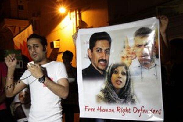 Jeden z protestov v Manáme.