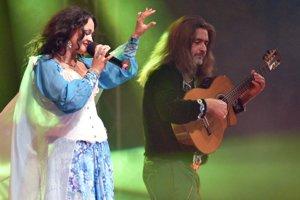 Na snímke vystúpenie skupiny Sare Roma.