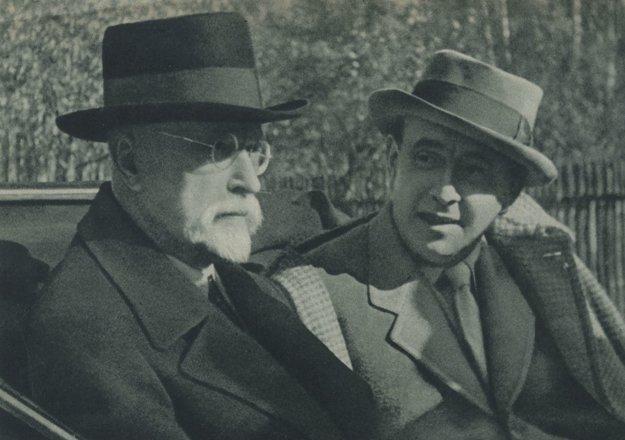 Posledná snímka žijúceho T. G. Masaryka.