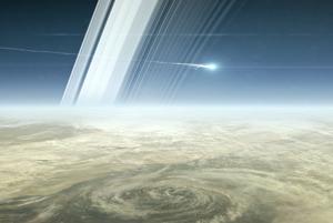 Sonda Cassini sa začne rozpadať asi 1500 kilometrov nad oblakmi Saturnu.