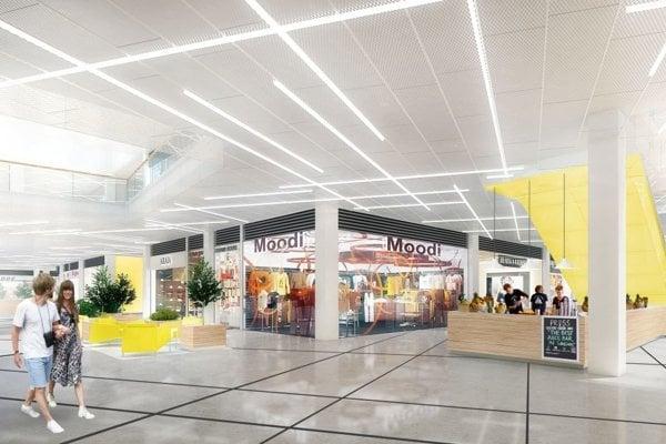 Toto je interiér budúceho obchodného centra Galéria v Martine