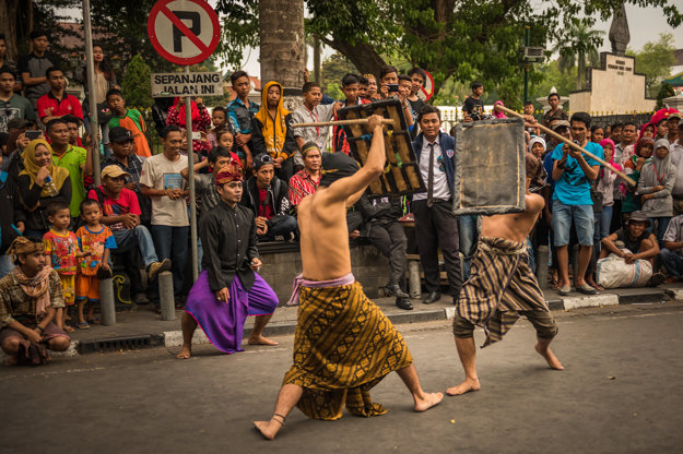 V uliciach Yogyakarty.