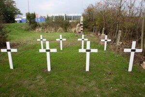 Z cintorína sa zachovalo iba časť.