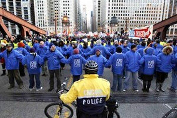 Demonštrácia v Chicagu.