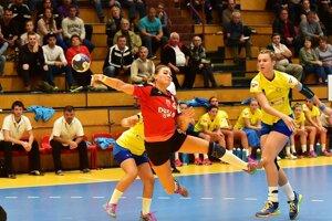 Najlepšou strelkyňou Dusla dnes bola reprezentačná spojka Karin Bujnochová.