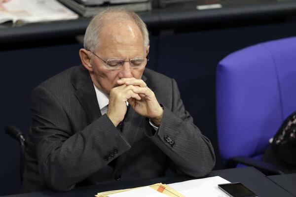 Merkelová sa možno bude musieť vzdať ministra Schäubleho