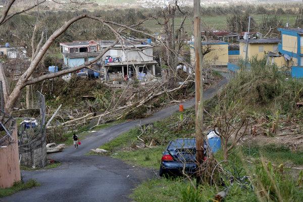 Následky hurikánu Maria v Portoriku.