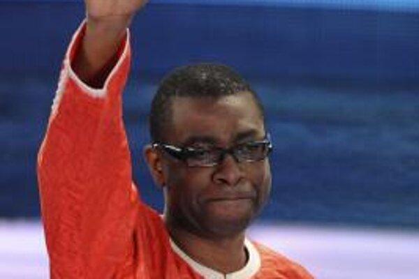 Senegalský spevák Youssou N'Dour v San Reme.