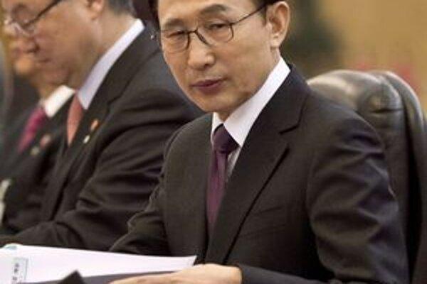 Juhokórejský prezident Lee Mjong-Bak.
