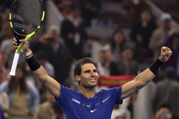 Rafael Nadal sa teší z postupu do finále turnaja v Pekingu.
