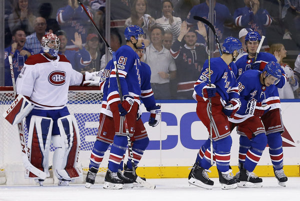 Hráči New York Ranger porazili Montreal.
