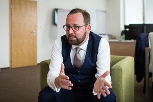 Peter Blaškovitš počas rozhovoru pre SME.