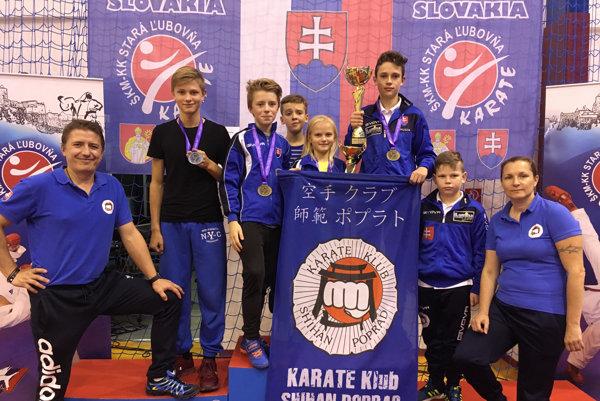 Pretekári Karate klubu Shihan Poprad.