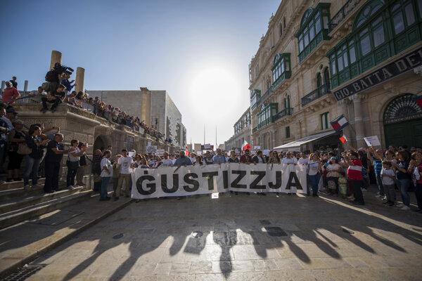 Vražda novinárky vyburcovala obyvateľov Malty, demonštrovali za spravodlivosť