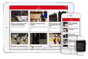 Aktuálny dizajn aplikácie SME.sk