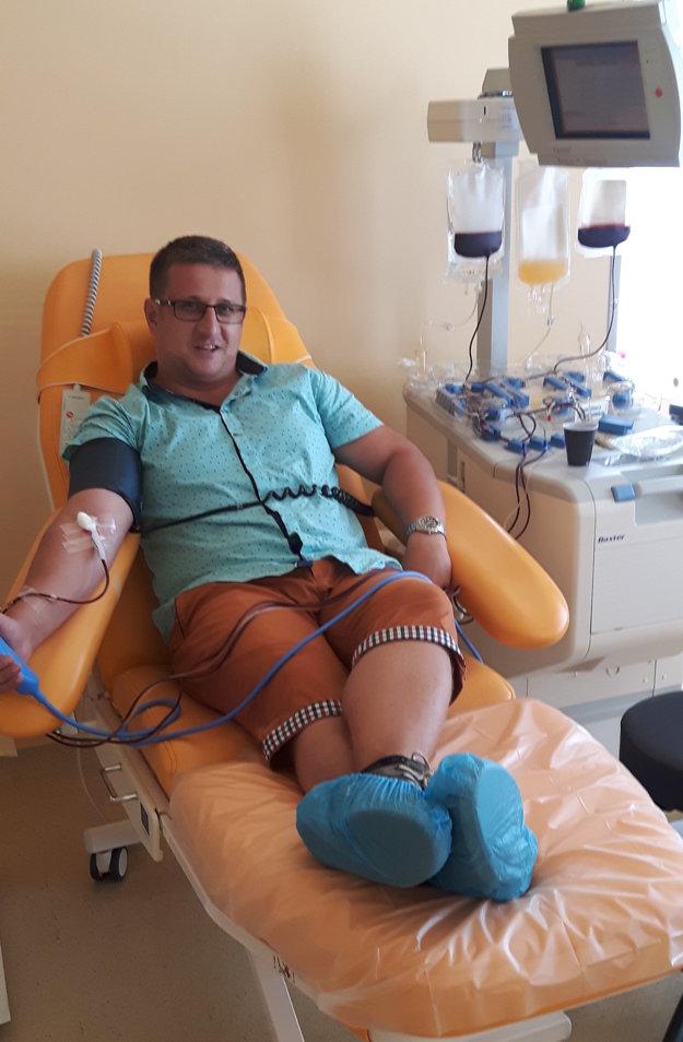 Marek Straka je držiteľom Kňazovikého medaily. Na konte má 114 odberov krvi a krvných doštičiek.