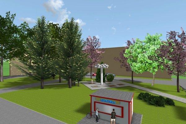 Vizualizácia okolia parku po renovácii.