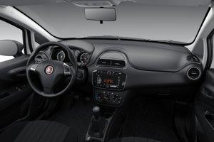 Interiér Fiatu Punto v základnej výbave za 9 680 eur.