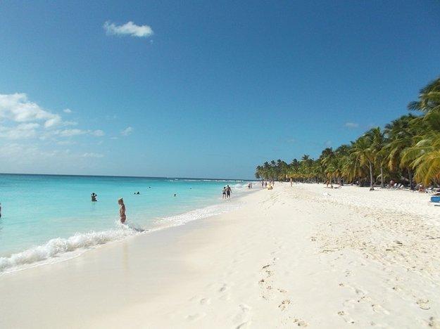 Pláž na ostrove Saona