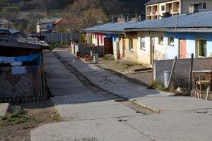 Rómska osada v Šíde.