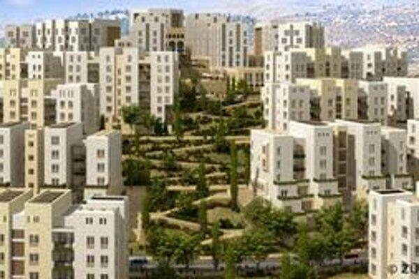 Mesto Rawabí má stáť podľa štúdie na kopci.