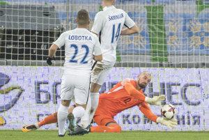 Moment, ktorý rozhodol - Martin Polaček inkasuje gól na 1:2.