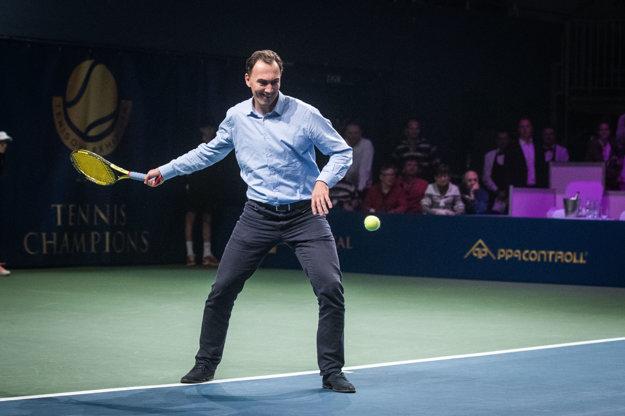 tenisové umenie predviedol aj Miroslav Šatan.