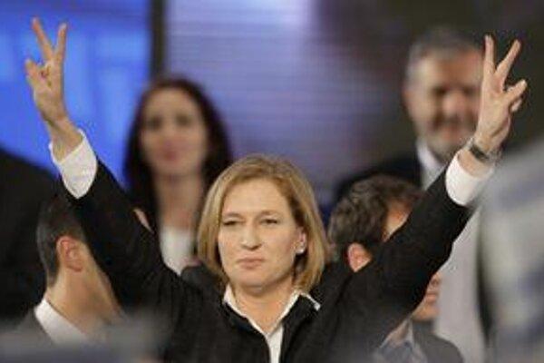 Vo voľnách zvíťazila len o jedno kreslo strana Kadima Cipi Livniovej.