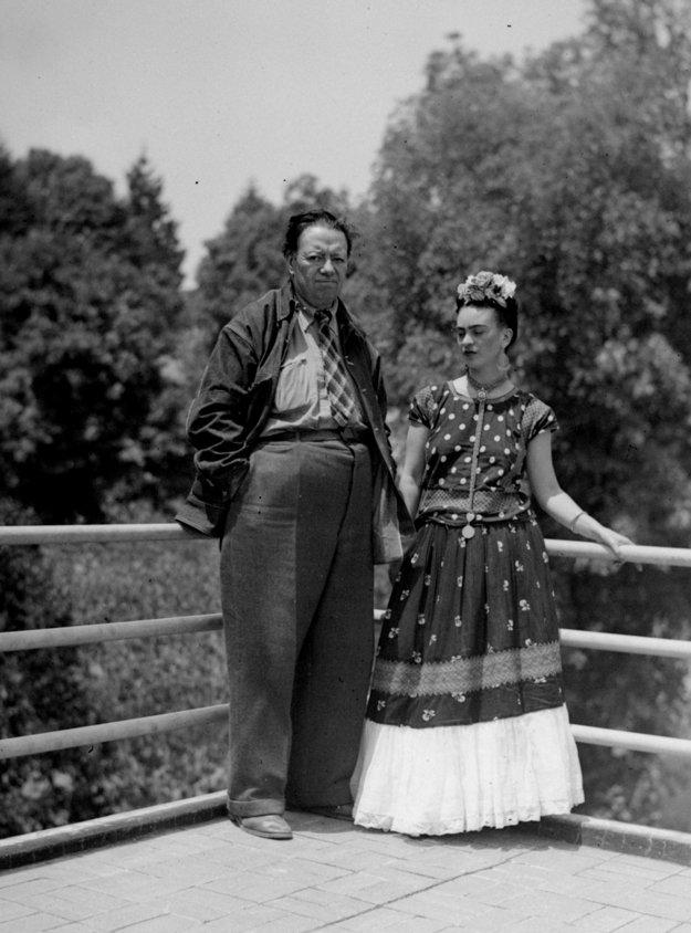 Frida Kahlo a jej manžel Diego Rivera